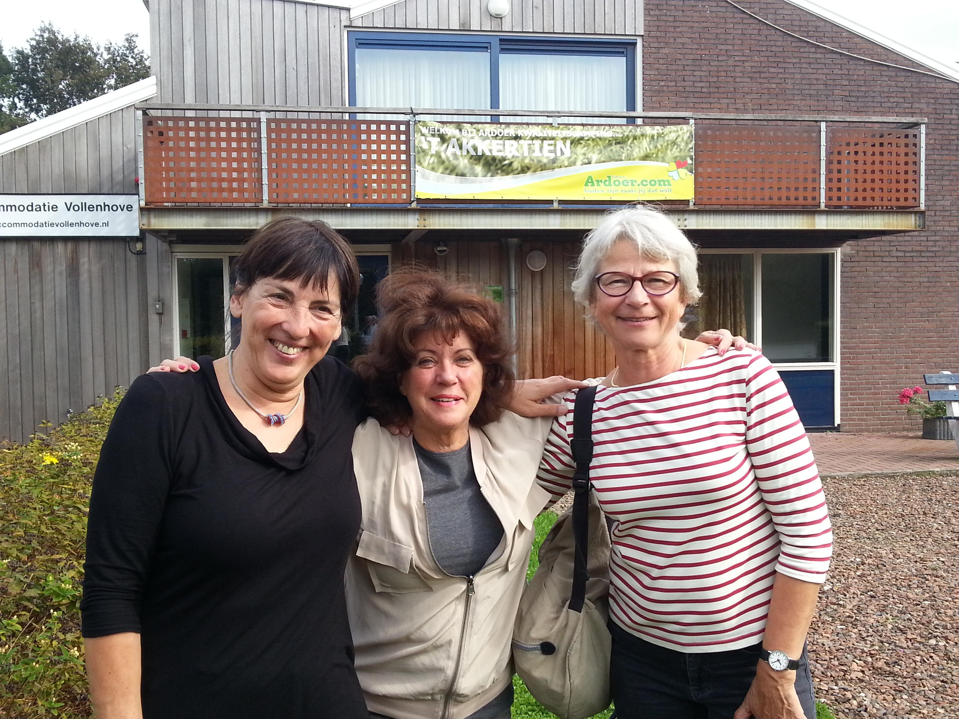 Het organisatiecomité: Gerda, Annette en Rietje